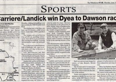 1998 Star Carriere and Landick Win D2D Race