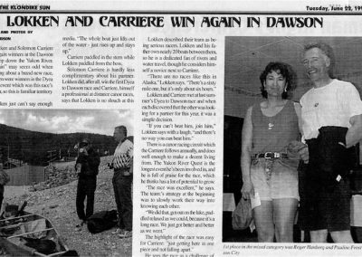 1999 KSun Lokken and Carriere Win Again in Dawson