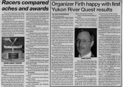 1999 Star Racers aches and awards Organizer Firth happy- 6-14-99