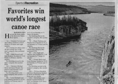 1999 YNews 6-14-99 Favourites win worlds longest canoe race
